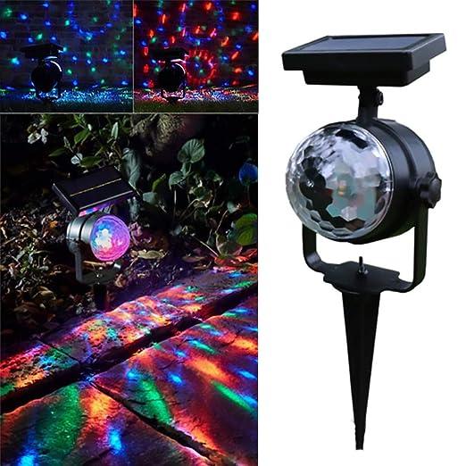 Luces de proyector solar LED Color Cambio de lámpara de proyección ...