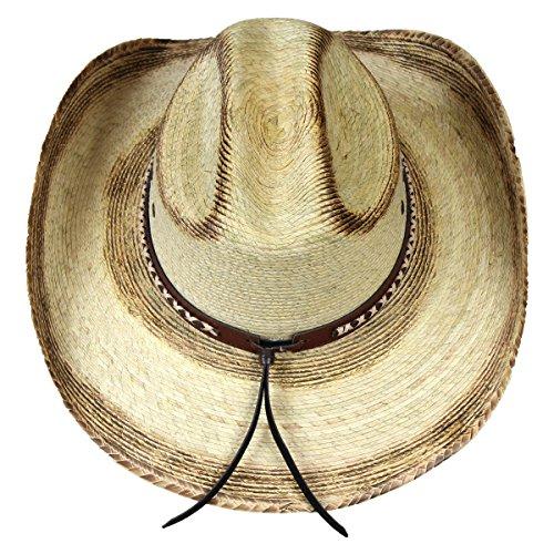 3f651c845 Buckhorn Hats Mexican Ridge Top Palm Leaf Straw Cowboy Hat ...