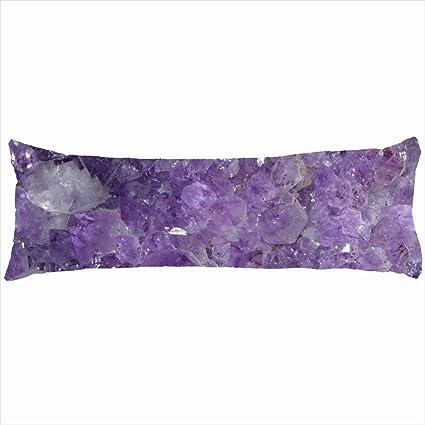 c802ce552 Familia decorativo almohadas Beautiful morado amatista cristales de  curación diseño único Decoración para el hogar funda
