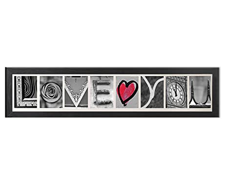 Amazon.com - Creative Personalized Imagine Letter Art Frame with ...