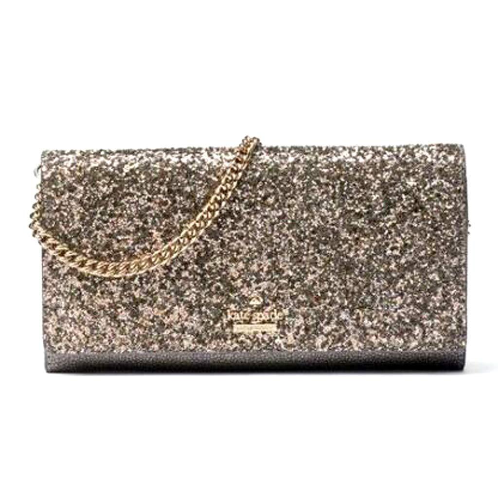 Kate Spade Laurel Way Glitter Milou Evening Clutch Bag - Gunmetal