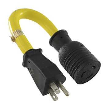Amazon.com : Conntek 1-Feet Generator Adapter 15-Amp U.S Plug to 20 ...