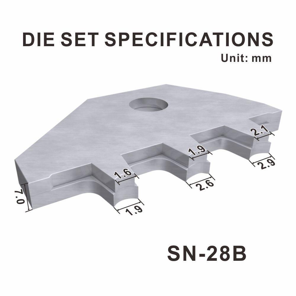 18/AWG 0,1 iwiss Dupont broches isol/é Terminal Pince /à sertir 2,54/mm 3,96/mm 28 1,0/mm/² /à cliquet de compression Outil /à sertir modulaire avec wire-electrode de coupe Die