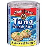 Ayam Brand Tuna Snacky Pack | Wild Caught Premium Tuna | Includes 10 Crackers | Omega 3, Vitamin E, B6 & B12 | Halal…