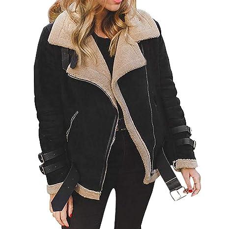 Amazon.com: Clearance Women Faux Fur Coat COPPEN Winter Fleece Outwear Warm Christmas Biker Motor Aviator Jacket: Musical Instruments
