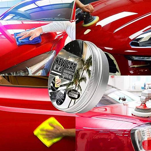 Zjywyg 2 Stück New Car Coating Wax Auto Anti Scratch Wax Instant Paint Protection Sealant Glasur Wasserdichtes Antifouling Wax Kommt Mit Wischschwamm Schnellreinigung Politur Glanz Auto