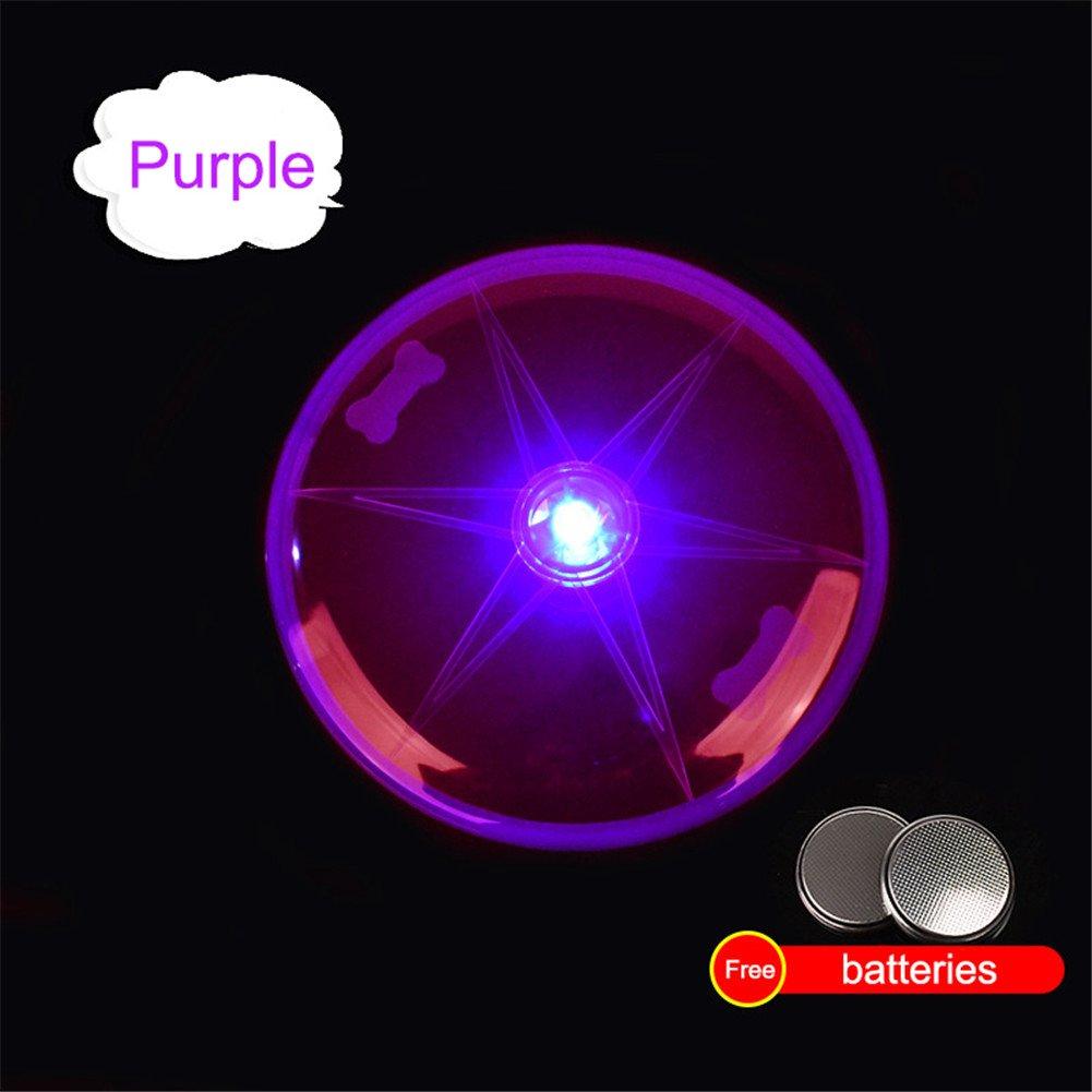 Flash Volador Discos para Perro,AZX, Juguete del LED Discos Voladores para mascota,Diametro 15cm (Azul)