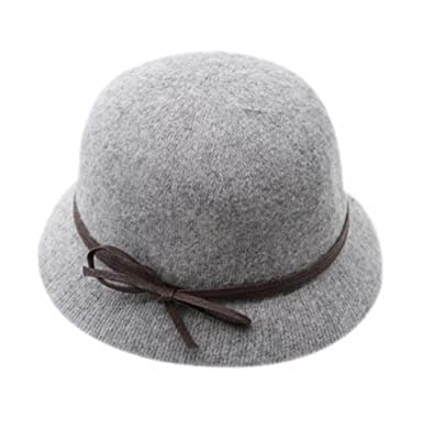 Image Unavailable. Image not available for. Color  Women s Winter Wool Felt Fedora  Hat ... b52c919078e
