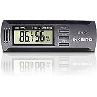 Inkbird Dc 3V Hygromètre Cigares Humidor Thermometre de Cave, Affichage de Température et Humidité,pour Frigo,Cave a Vin, Terrarium,Humidor Cigare,Serre