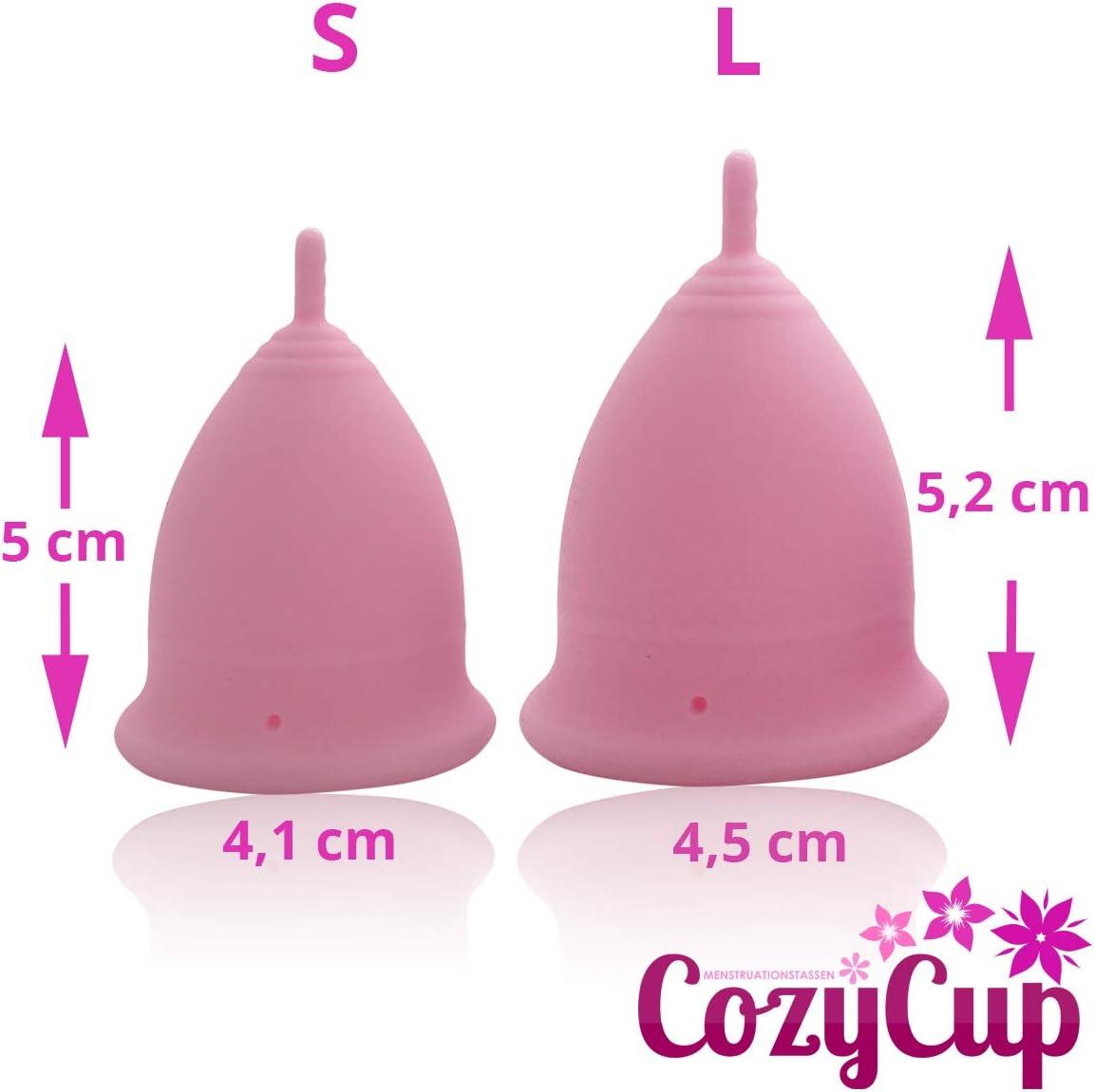 CozyCup Classic - Copa menstrual de silicona médica, hecha en Alemania