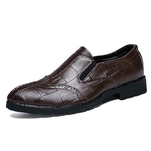 Moda Informal de Oxford Oxford Moda para Hombres Zapatos de Punta Suave y Transpirable de Bricolaje