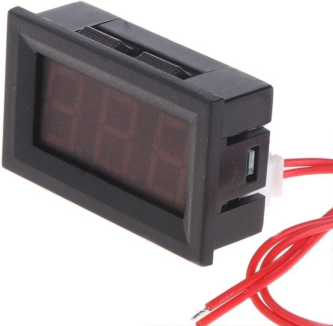 vert Kalttoy 220 V AC 22mm Affichage Num/érique Amperm/ètre Moniteur Indicateur de Courant Signal Lumi/ère Amp/èrem/ètre Testeur Mesure 0-100A Amp/ère Compteur