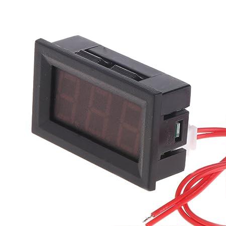 haia7k4k 2 Draht 1,27 cm AC 30V-500V LED Digital Voltmeter Voltmeter Monitor Tester f/ür 110 V 220 V 380 V m blau