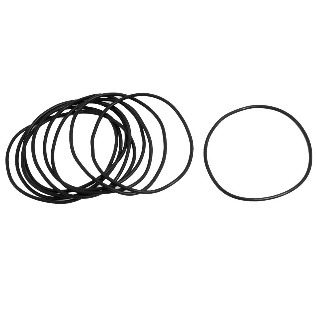 10 Pcs 2.5mm x 72mm Rubber Sealing Oil Filter O Rings Gasket Black Sourcingmap a13030700ux0426