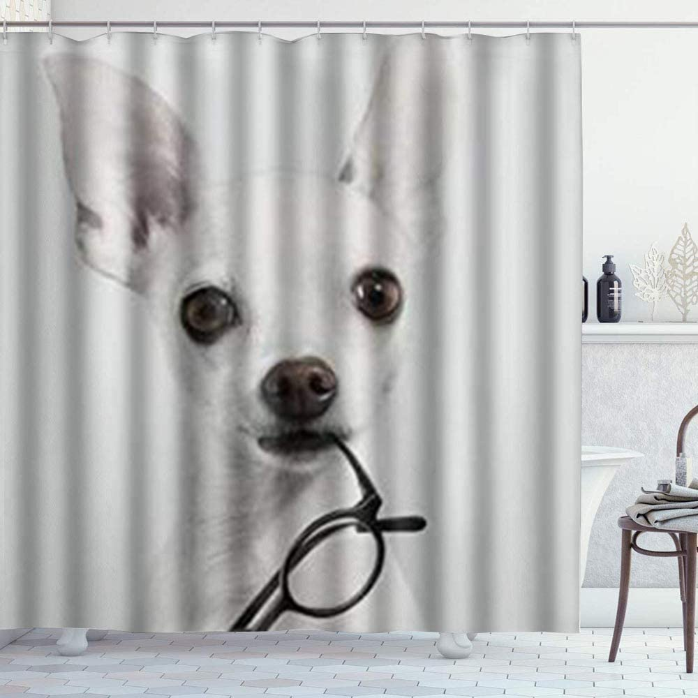 Duck Printed Shower Curtain Size 180x180 With 12 Hooks