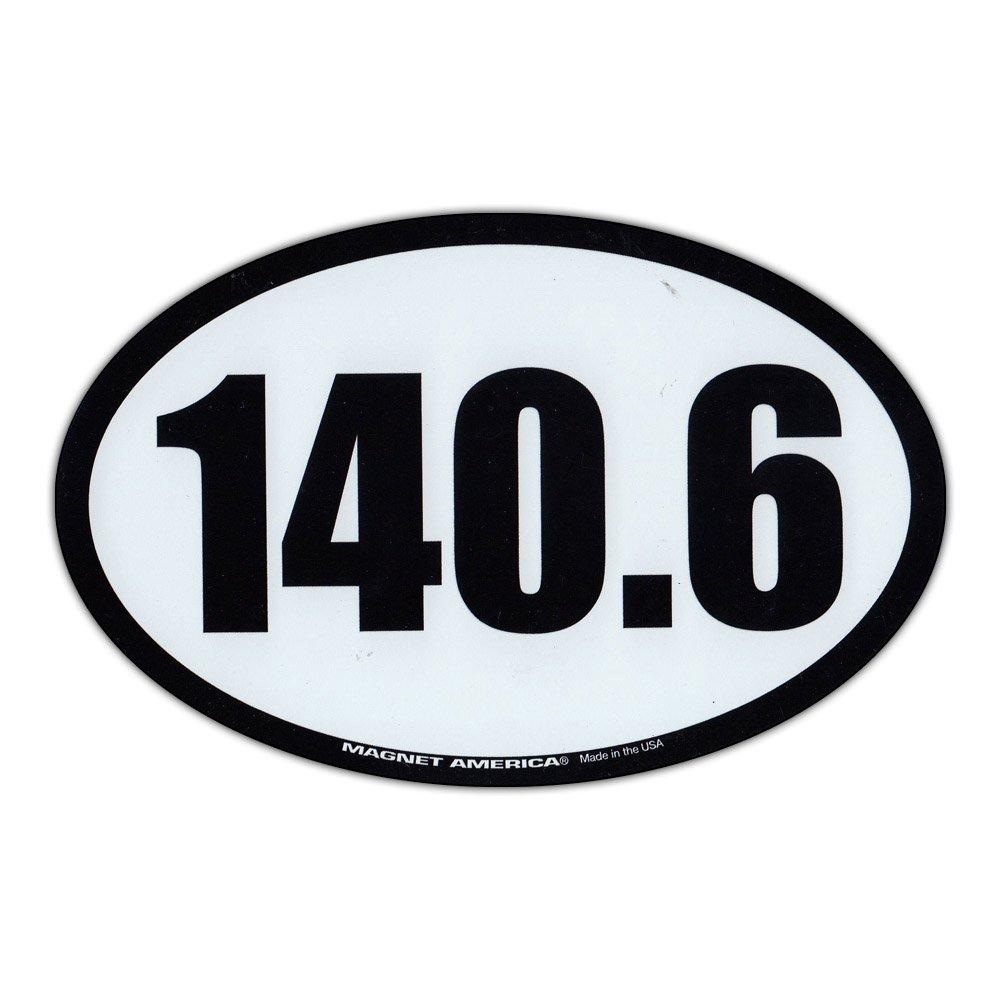 Refrigerator Magnet - 140.6 Ironman Triathlon (Iron Man) - 6.5 x 4.25 Crazy Sticker Guy