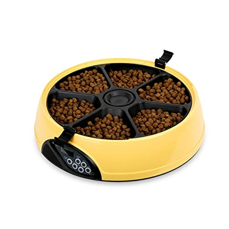 PETCUTE Comedero Automático Gatos Comedero Automático para Perros Dispensador Comida Gatos Alimentador automático de Mascotas 6 Veces/día