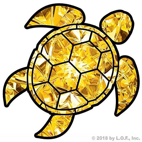 Yellow Topaz Sea Turtle Birthstone Decal November Print Sticker Vinyl Rear Window Car Truck Laptop Gem Travel Mug Water and Fade Resistant 4