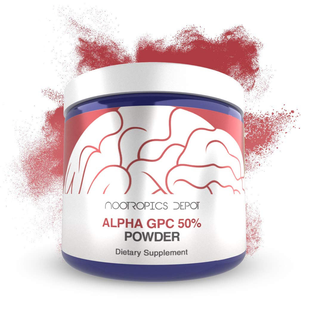 Alpha GPC Powder (50%) | 60 Grams | Cholinergic Supplement | Brain Health Supplement | Supports Healthy Brain Function | Enhance Cognition, Memory + Focus by Nootropics Depot