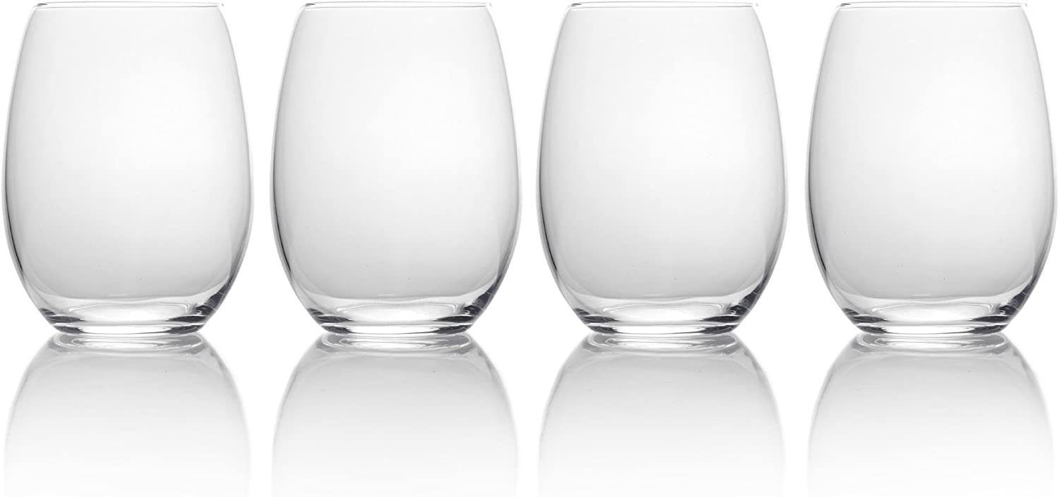 Mikasa, 19.75 oz, Clear Julie Stemless Wine Glass, 19.75-Ounce, Set Of 4