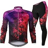 Ensemble maillot à manches longues et pantalon de cyclisme pour homme Pad 3D pour l'automne et l'hiver
