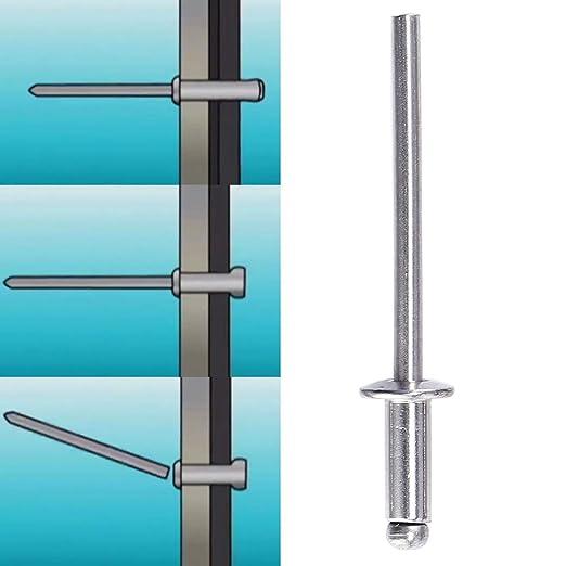 Stainless Steel, 4.8x8mm SurePromise 100 Pcs Blind Pop Rivets
