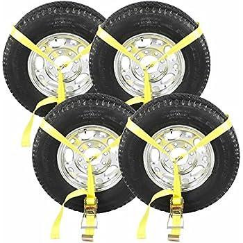Ratchet Strap For Wheel Tire Rim Bonnet Atv Quad Muv Side