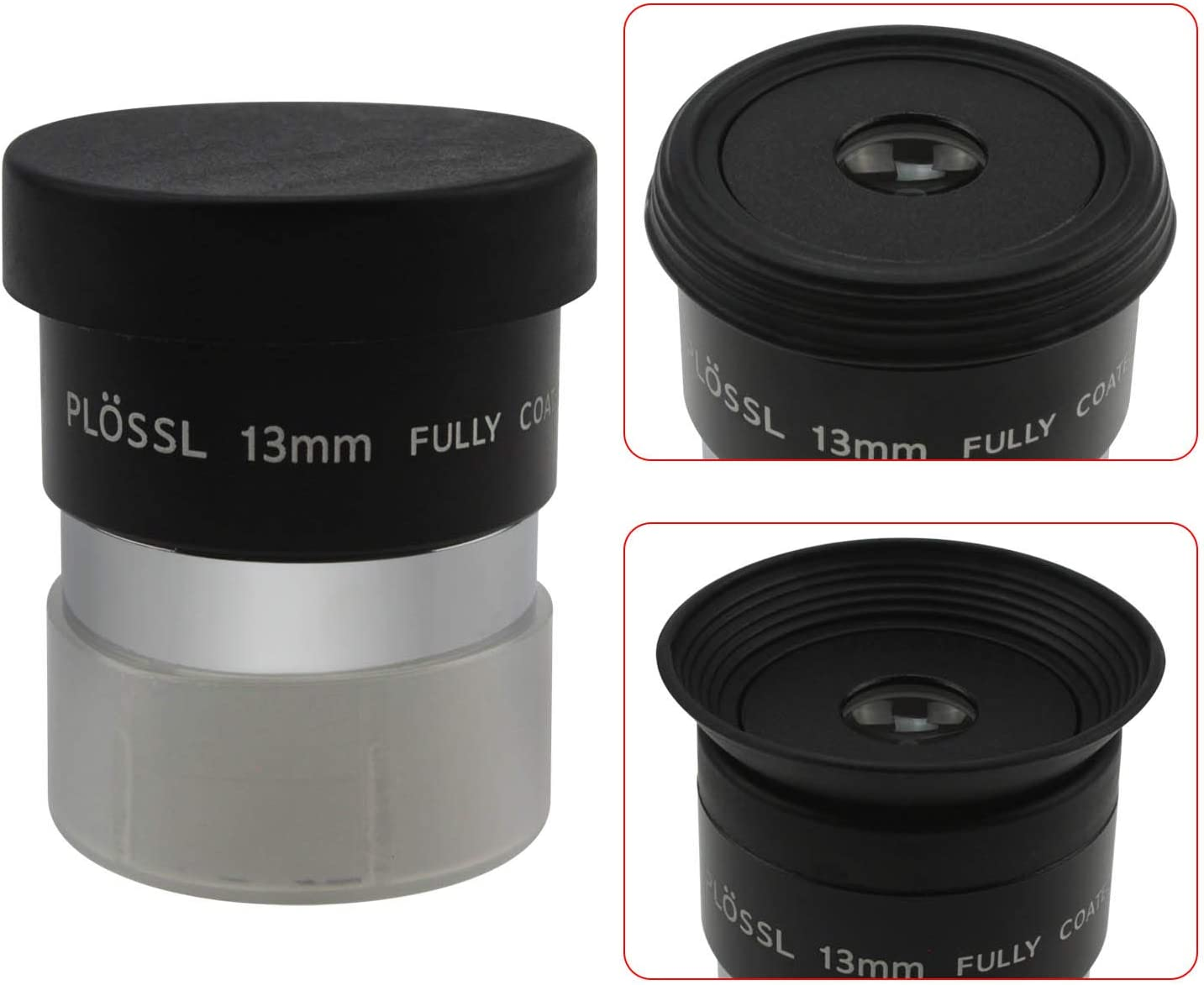4-Element Plossl Design Astromania 1.25 12.5mm Plossl Telescope Eyepiece Threaded for Standard 1.25inch Astronomy Filters