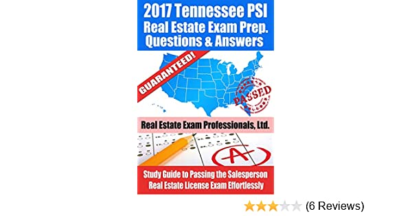 2017 tennessee psi real estate exam prep questions and answers rh amazon com