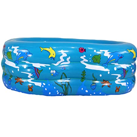 JINMM Piscinas Hinchable Infantil,Piscina Familiar Rectangular,130 ...