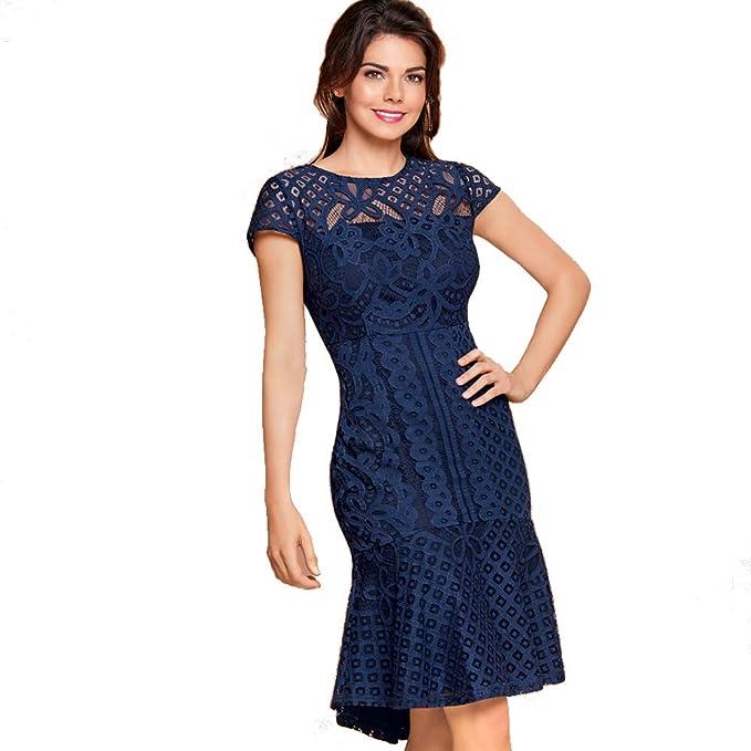41af653d9 cklass Vestido Midi de Crochet: Amazon.com.mx: Ropa, Zapatos y ...