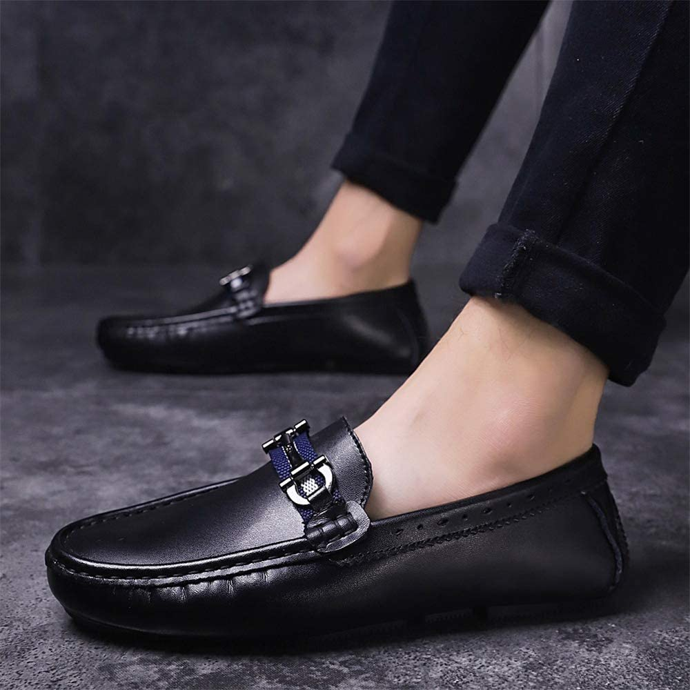 US Men Mens Dress Shoes Monk Strap Buckle Loafers Slip on Oxford Shoes M Black-Lable 44//10 D