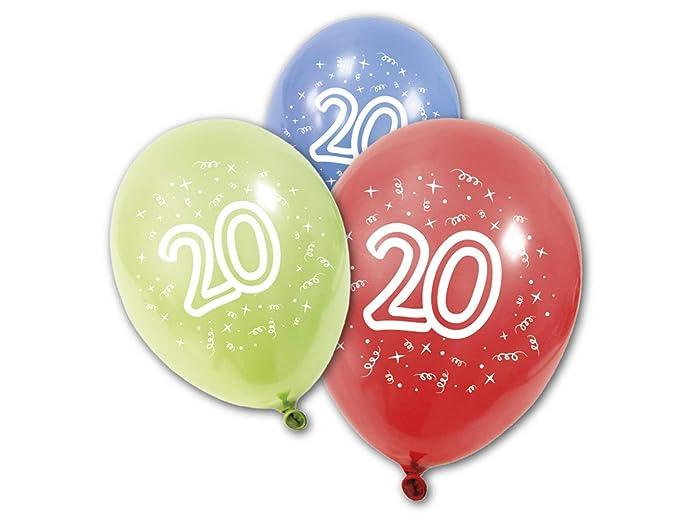 COOLMP - Lote de 12 Globos de látex para cumpleaños de 20 ...