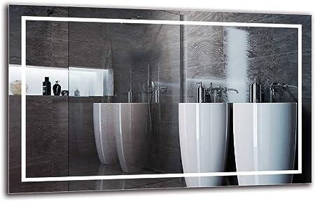 Dimensioni dello Specchio 40x40 cm Specchio per Bagno ARTTOR M1CP-31-40x40 Specchio a Muro Pronto per Essere Appeso Bianco Caldo 3000K Specchio con Illuminazione Specchio LED Premium
