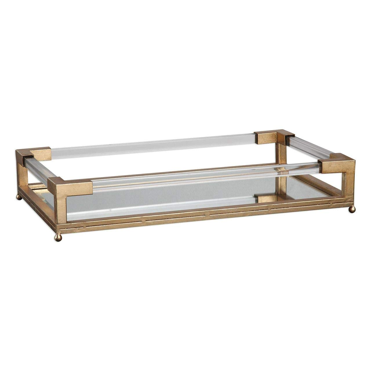 Uttermost Mirrored Tray in Clear and Gold