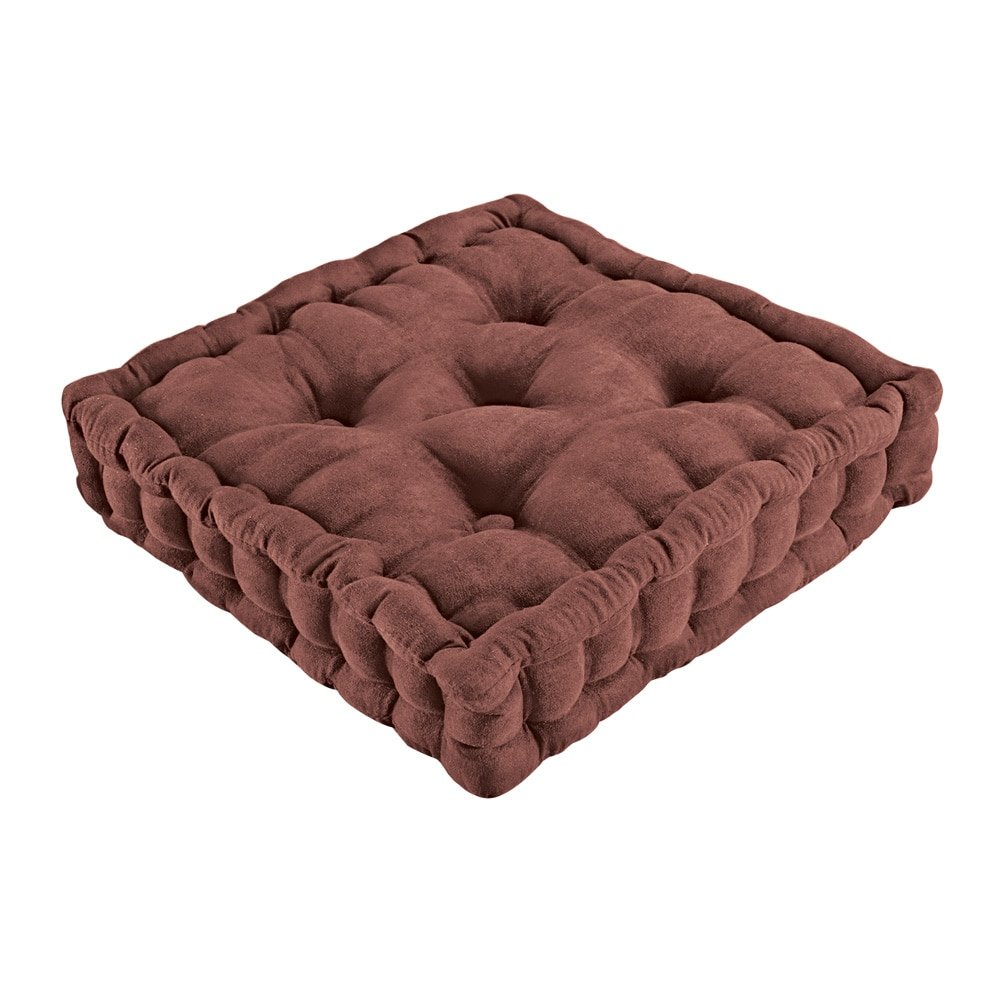 Tufted Support Padded Boosted Cushion, Chocolate
