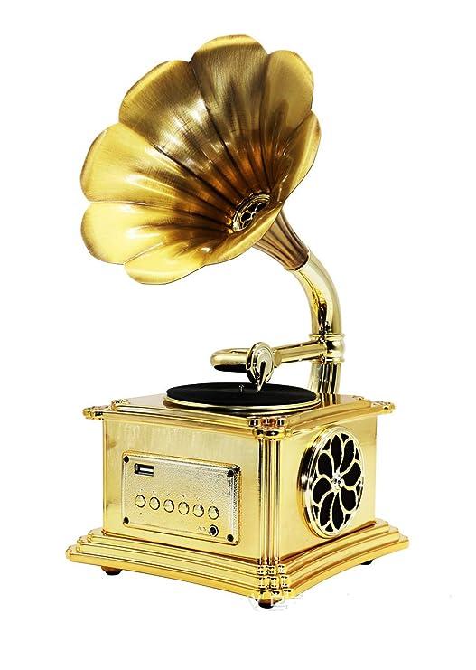 Sound Mini Modelo Metal Fonógrafo Gramófono Tocadiscos Música ...