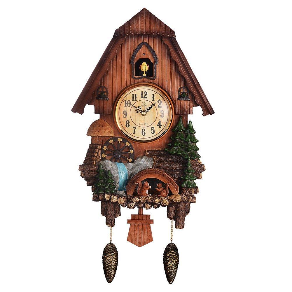 鳩時計 カッコーのアラーム音 正時報時機能付き B07CWDRS91