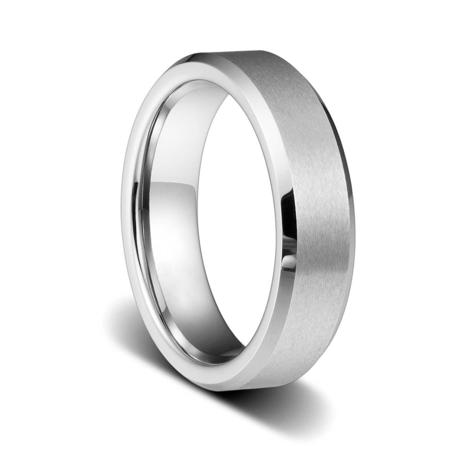 TUSEN JEWELRY Engraving Personalized Custom Wedding Band Engagement Tungsten Ring 6mm Size:8.5