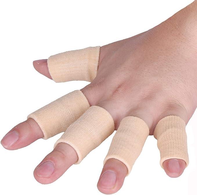 1 Pair Kangkang@ Basketball Hand Protection Basketball Gear Finger Supports Finger Splints Set of 2 Star Compression Basketball Fingers Sleeve