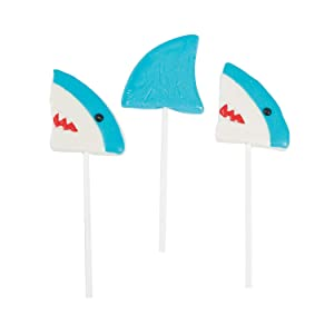 SHARK CHARACTER SUCKERS - Edibles - 12 Pieces