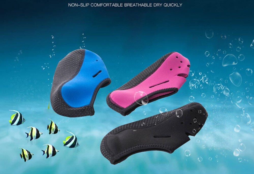 Calzini Antiscivolo,iSpchen Calze Da Nuoto Confortevoli Da Immersione Asciugamani Da Spiaggia Traspiranti Ad Asciugatura Rapida Nero