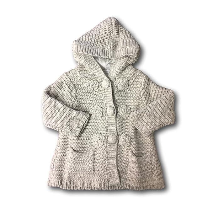 57f50a0bb20 Amazon.com  First Impressions Baby Girls  Sweater Jacket (18M ...