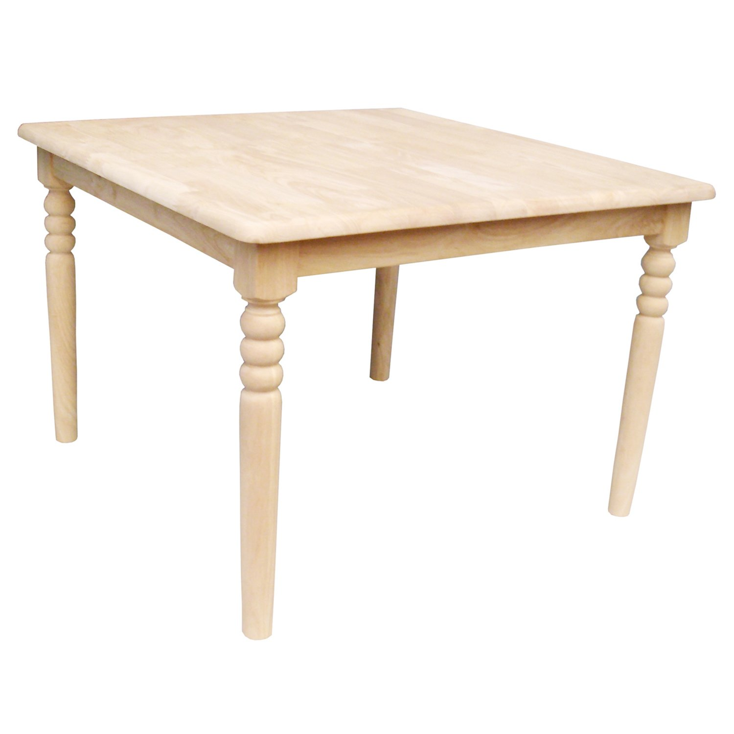 International Concepts Unfinished Square Juvenile Table