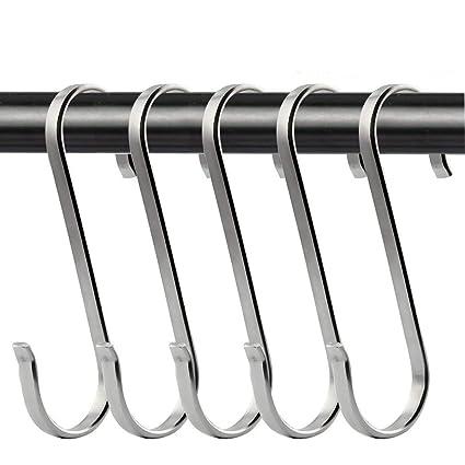 cocina o herramientas de oficina soporte de en forma de S ganchos cepillado SUS304 acero inoxidable