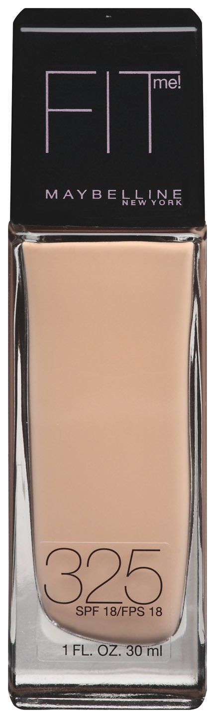 Maybelline New York Fit Me! Foundation, 325 Cream Beige, SPF 18, 1 Fluid Ounce