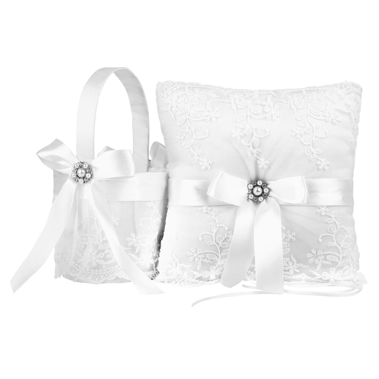 Amazon Truelovegift Ring Bearer Pillow And Wedding Flower Girl