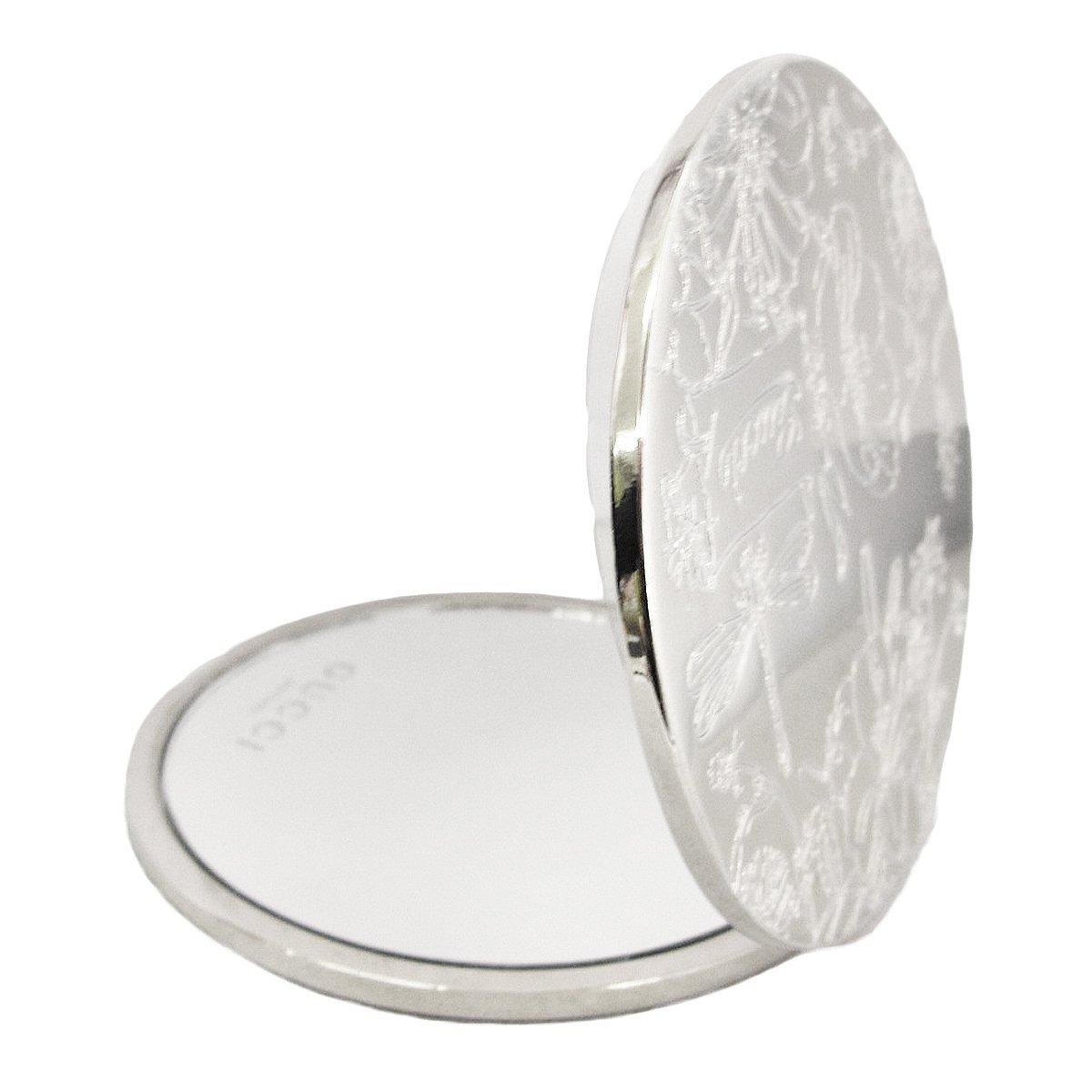 f4dc139b3ee5 Amazon | GUCCI グッチ ミラー ハンドミラー ケース付き 鏡 二面鏡 ロゴ型押し 丸型 シルバー 並行輸入品 AMI725 | GUCCI (グッチ) | トートバッグ