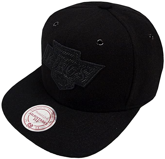 low priced 29244 21de3 Image Unavailable. Image not available for. Color  Mitchell   Ness Los  Angeles Kings Reworked EU504 Snapback Cap Kappe Basecap Black
