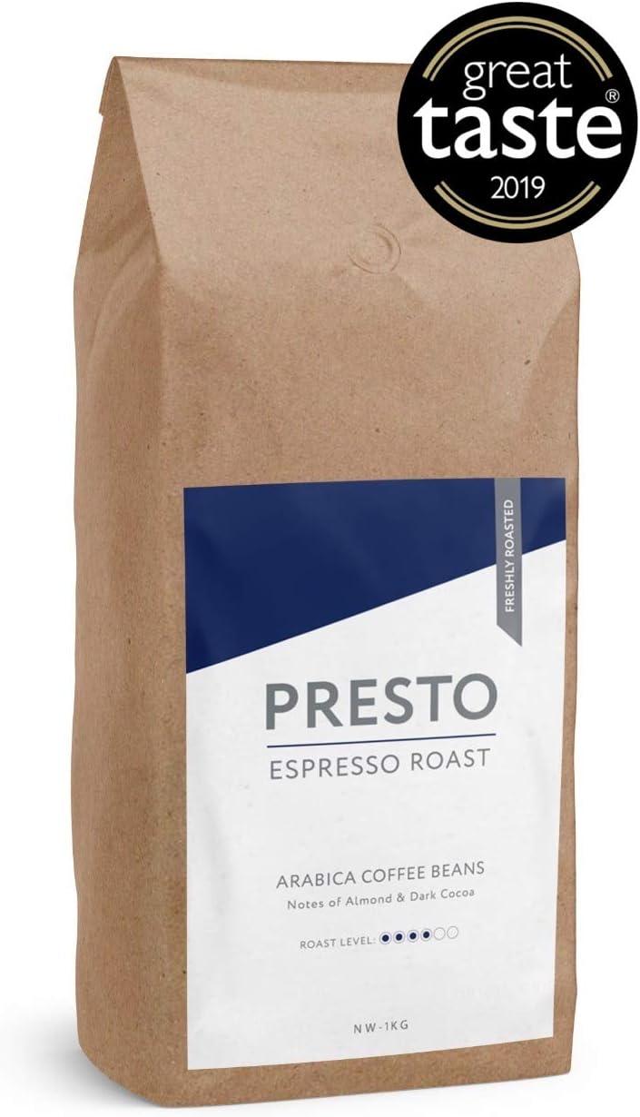 Presto Coffee Beans Cafè Espresso Medium Roast Espresso Coffee Beans 1kg 100 Arabica